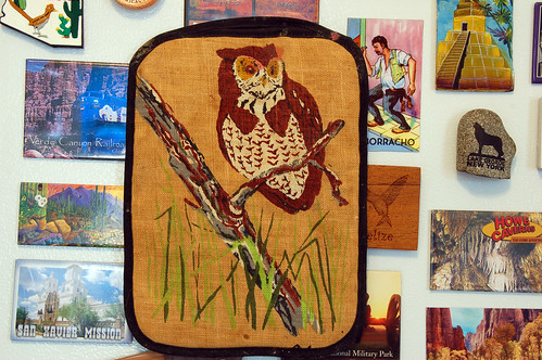 grimy owl potholder