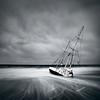 Wrecked (Luke Austin) Tags: california blackandwhite bw usa storm la losangeles yacht shipwreck