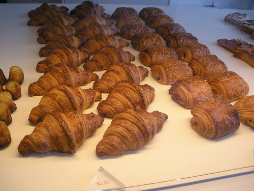 Photo by TomFlemming:   Croissants and Pain au chocolat at Nadège Patisserie on Queen Street Wes