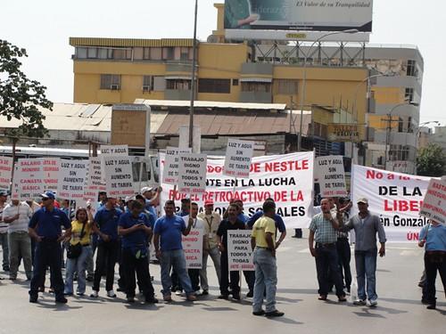 Concentración de trabajadores, 12 de marzo