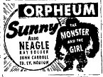 THE MONSTER AND THE GIRL (1941) Newspaper advertisement 7-7-41