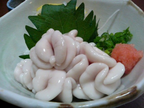 Shirako; Weird Japanese Food. Made from Male Genitalia of Fish (Fish Testicle)