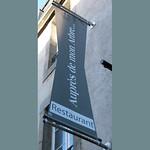 Enseigne restaurant Auprès de mon arbre, Saint-Pol de léon