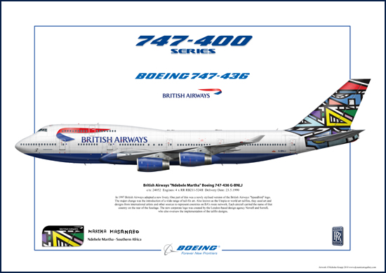 British Airways Ndebele Martha Boeing 747-436 G-BNLJ