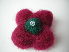 red flower felted