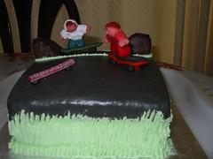 Skateboarder cake (Micky Straathof) Tags: marzipan sugarpaste noveltyspongecake