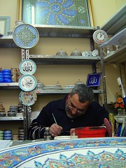 The Artist ... (intasko) Tags: portrait color art design algeria ceramics artist pattern candid muslim islam traditional decoration s