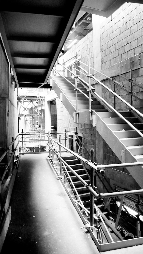 Tottenham Court Road main stair during construction (ESA)