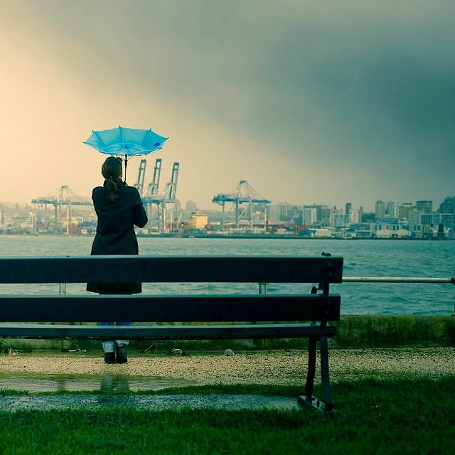 Cuba Gallery: City / New Zealand / landscape / rain / blue / umbrella / woman / buildings / wind / sea / storm / photography