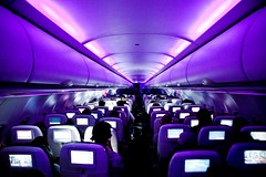 Virgin America, The Best Airline I've Ever Flown (Thomas Hawk) Tags: usa airplane inflight purple unitedstates fav50 10 unitedstatesofamerica fav20 fav30 fav10 fav25 somewhereoveramerica fav40 virginamerica bestairlineiveeverflown