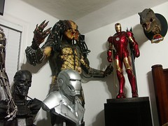 Predator Iron Man Maquette Sideshow Life-size (FelMarWETA) Tags: man statue iron mark iii 11 replica stan ii 12 terminator predator winston prop sideshow t2 maquette t800 endoskeleton