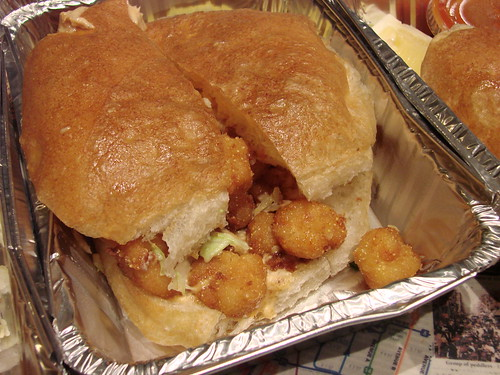 Cajun Fried Rock Shrimp Sandwich from the Oyster Bar