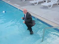 San Diego trip -I might as well go for a swim! (Mr. Muddy Suitman) Tags: sandiegotrip