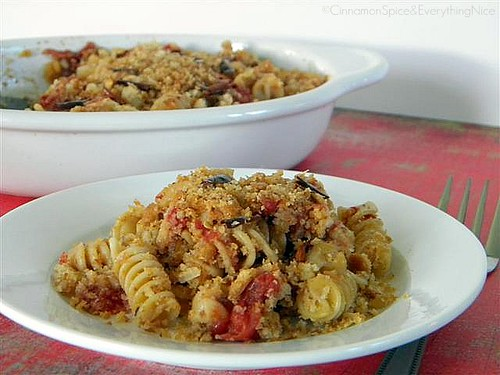Pasta w/ Fried Chile Peppers & Bread Crumbs