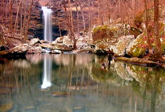 winter view of Cedar Falls (photogg19) Tags: creek waterfall arkansas cedarcreek cedarfalls potofgold petitjeanstatepark nikond40 streamriver elitephotography