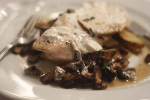 The main course: Chicken and mushroom