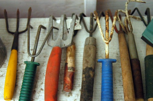 Peggy's gardening tools