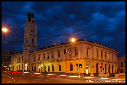 University of Ballarat at Night, Former Post Office, Ballarat, VIC, Australia