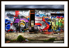 Abandoned Vancouver (Clayton Perry Photoworks) Tags: old urban canada abandoned colors vancouver canon graffiti paint colours bc britishcolumbia decay tag rusty tagged tagging crusty hdr shabby taging canonphotography abandonedvancouver claytonperry