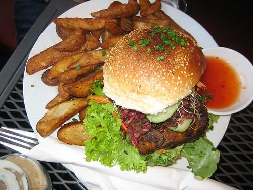 veggie burger FOR BREKKIE