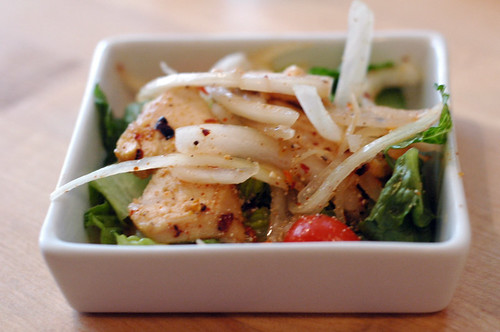 land spicy chicken salad