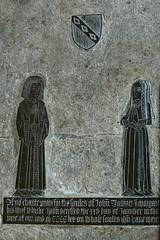 Brass monument to Jogn Tawyer and wife