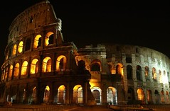 Colosseum - Colosseo Roma - 180 degrees - Coliseum - Flavian Amphitheater (Sir Francis Canker Photography ) Tags: trip travel italien italy panorama vatican rome roma history tourism architecture night landscape noche arquitectura ruins europa europe long exposure theate