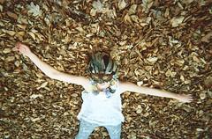 lady leaf (Adele M. Reed) Tags: film floral leaves fashion 35mm woods photoshoot mask kodak feather libby disposable necklase adelemreedportfolio