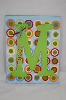 Canvas Letter- Mason