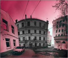The Crime Scene (a.Kry) Tags: city urban panorama building abandoned ir russia decay moscow pano urbandecay countries canondslr canoneos  falsecolor falsecolour  cokin   89a   fauxcolor  cokinp007 p007  convertedcamera infraredphoto     infraredpanorama 1000d  canoneos1000d   akryphotoart irpano  moskvekhod