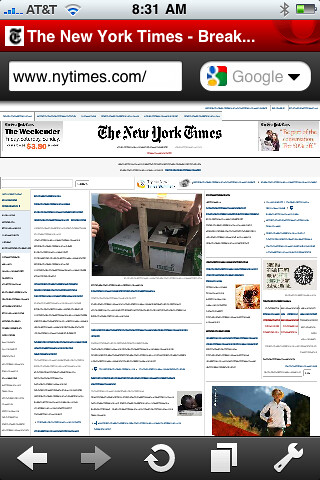 iPhone Opera Mini New York Times