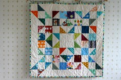 Quilt for Maritza (kelp!) Tags: baby quilt sewing sew fabric quilting hst halfsquaretriangles