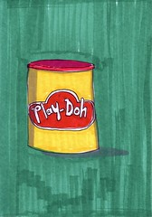 Play-Doh (Homemade Pop) Tags: art artwork artist folkart outsiderart folk originalart contemporary drawings pop popart homemade marker prints prismacolor foodart doodling 5x7 magicmarker foodpackaging pilotpen cheapart retroart brightart originalillustration quirkyart