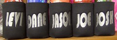bold font for guy koozies (The Koozie Floozie) Tags: style can sodabeer