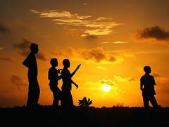 Sunset kite flying Thinadhoo Maldives (Badruddeen) Tags: life sunset kite boys island maldives activities top20sunsetsofourhearts peopleenjoyingnature tjinadhoo