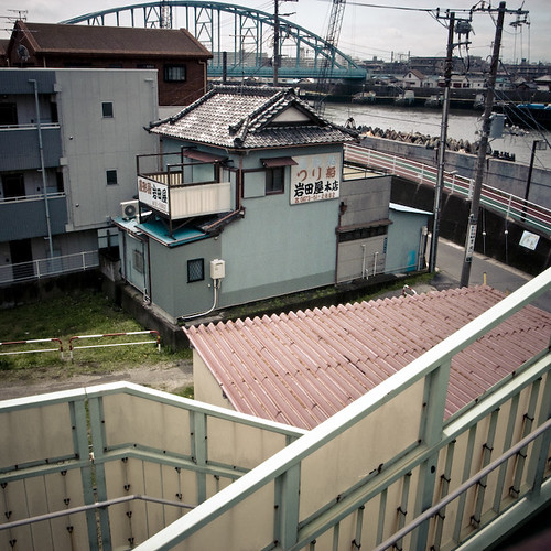 FIshing Goods, with Urayasu Tozai Line Bridge