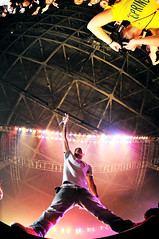 pharrell.  yes.  THE pharrell. (the half-blood prince) Tags: show music nerd college rock buffalo university artist crowd performance band fisheye springfest ub rap mic pharrell 105mm pharrellwilliams nikkor105mmf28fisheye