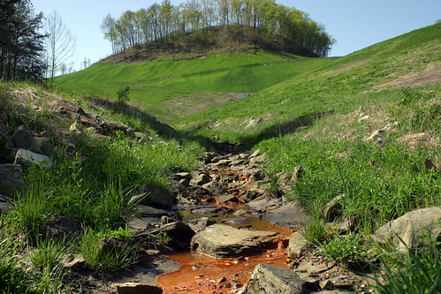 "Runoff from a ""Reclaimed"" Mountaintop Removal mine in  Kentucky"
