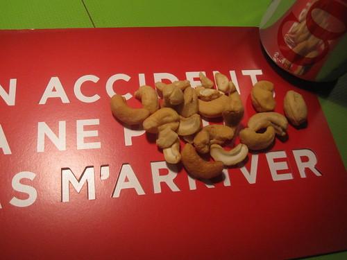 cashews, Diet Coke ($1.25)