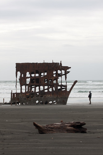 Fay meets Peter Iredale