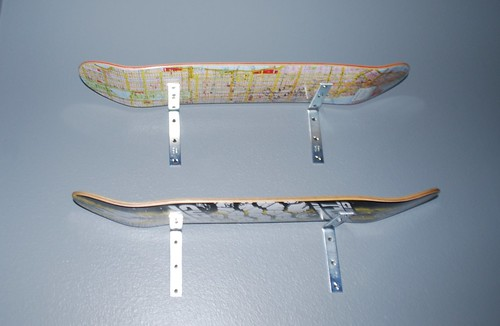 Close-up of Skateboard Shelves
