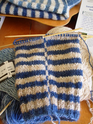 burning stripe sock contrasting stripe on leg