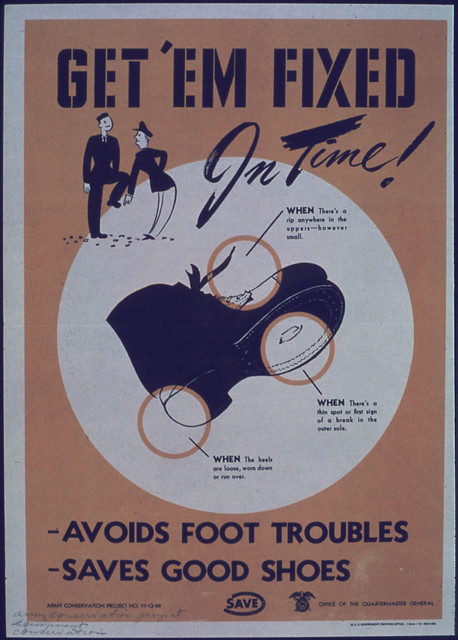 Getem Fixed in Time (Shoes) 1941 - 1945 by The US National Archives
