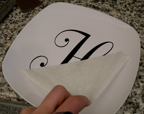 What The H Vinyl Monogrammed Plate House Of Hepworths