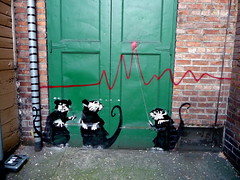 Banksy in Seattle? (liquidnight) Tags: seattle chart streetart graffiti alley banksy graph rats ephemeralart