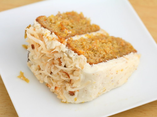 Carrot Cake with Pineapple and Coconut and Brown Butter Rum Cream Cheese Frosting