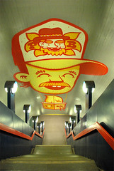Peachbeach @ Turmkunst, Subwaystation Schlostrae (Peachbeach) Tags: subway mural wallpainting peachbeach turmkunst