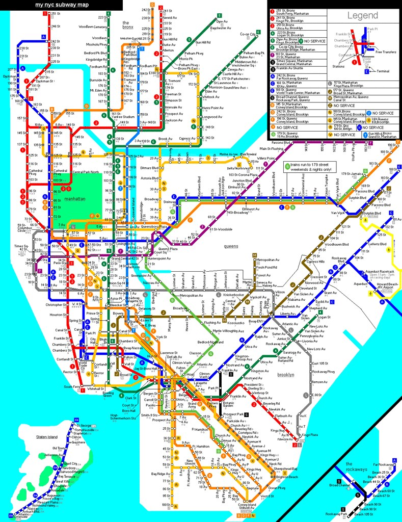 Late Night Subway Map