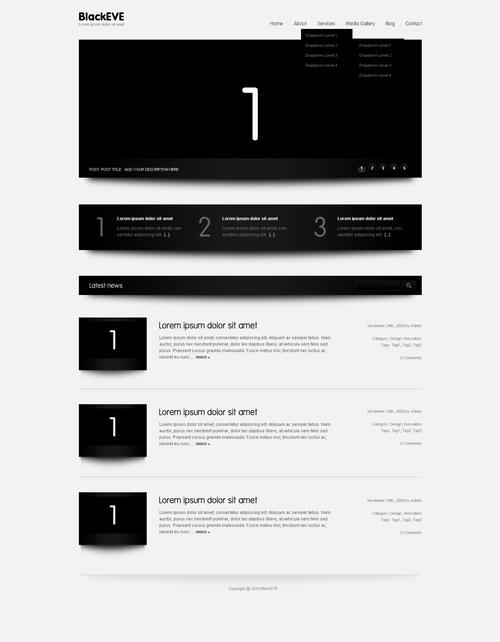 Black Eve   Premium WordPress Theme