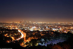 NightLife (dj murdok photos) Tags: longexposure cars colors skyline 35mm noche la moving losangeles concert aperture bright live sony horizon busy citylights glowing alive alpha hollywoodbowl nite starburst lites cityofangels 30seconds lightstreaks glens tallbuildings 101freeway